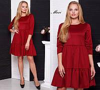 Замечательное женское платье для пышный модниц (трикотаж, длина мини, свободное) РАЗНЫЕ ЦВЕТА!, фото 1