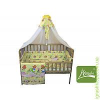 Комплект в детскую кроватку 8 элементов бязь, (цв.бежевый)