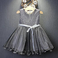 Платье с пайетками для девочки размер 104.