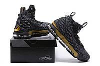 Кроссовки Nike LeBron 15 Black Gold, фото 1