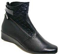 Женские ботинки кожаные большого размера на танкетке, обувь кожа большие размеры от производителя мод. МИ3707L