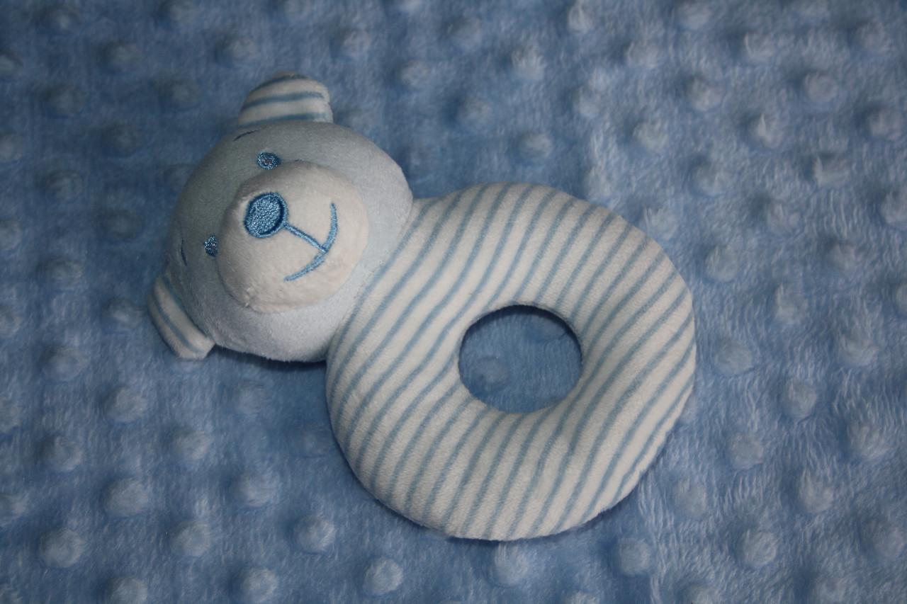 Плед для детей с игрушкой Golden spring (голубой)