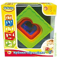 Кубики-пирамидка, 9м+, укр.упаковка, PS