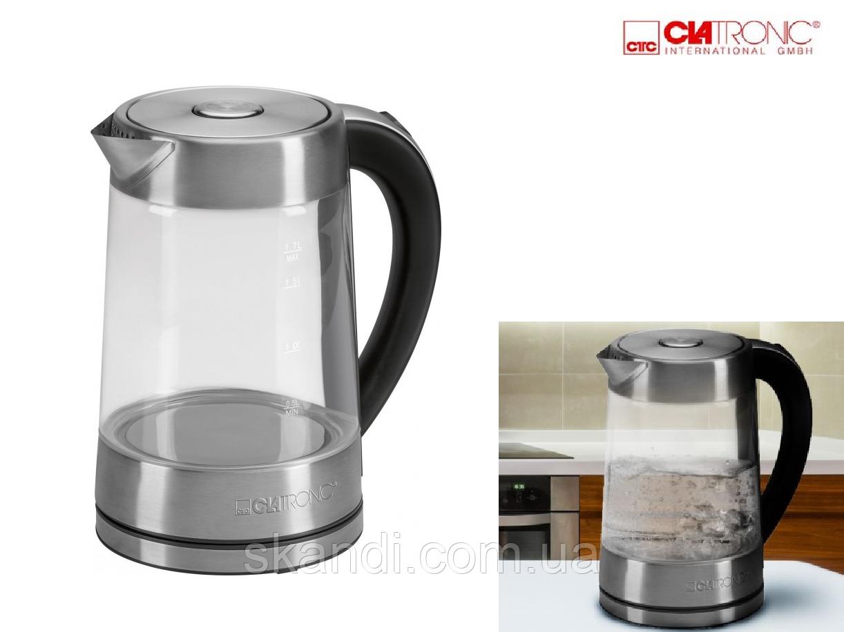 Электрический чайник Clatronic(Оригинал) стеклянный 1,7 л