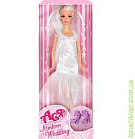 """Кукла Ася """"Модная свадьба"""", блондинка, вариант 2, PS"""