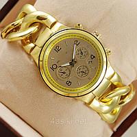 Часы женские MK золото цепь