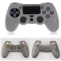 Силиконовый чехол для джойстика PS4 (Серый)