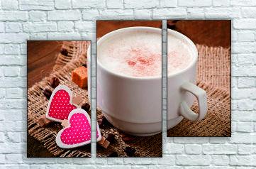 """Модульна картина"""" З кавою в серці"""""""