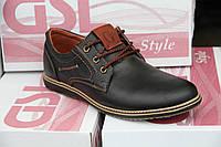Туфли мужские из натуральной кожи GSL 04