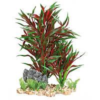 Растение для аквариума Trixie (Трикси) красное на каменной подложке TX-89304, 28 см
