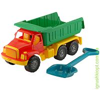 """Машина """"Магирус"""" самосвал №2: автомашина + лопата """"Землеройка"""" большая COLORplast"""