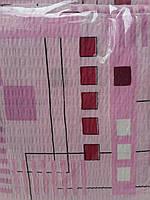 """Постельное белье евро жатка """"Розовый квадрат"""""""