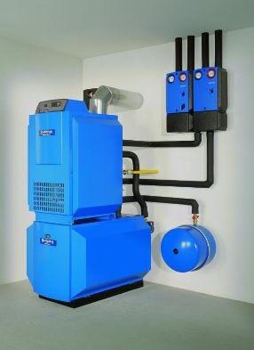 Газовый котел напольный Buderus, чугунный, отопительный 20-110 кВт.