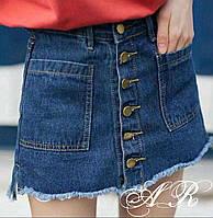 Женская модная джинсовая юбка-шорты