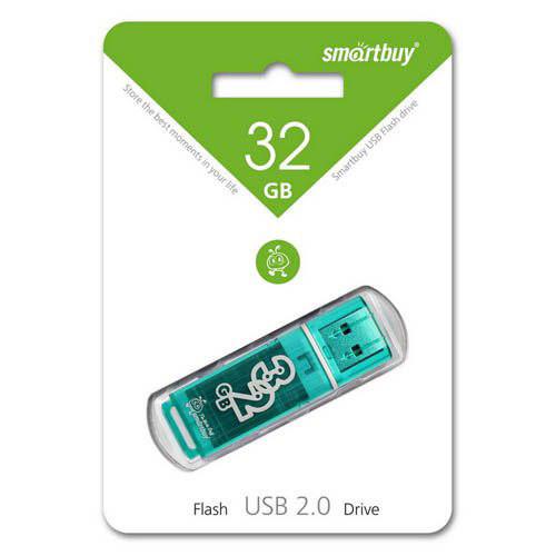 Флешка Smartbuy 32GB Glossy series Green
