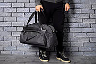 Сумка спортивная, для дороги Nike, найк (черный лого)