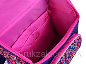 """Ранец ортопедический каркасный """"1 Вересня Smart"""" PG-11 Butterfly pink 554454, фото 2"""