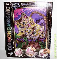 """Набор для творчества «DIAMOND MOSAIC» Алмазная живопись """"Котята"""", DankO toys"""