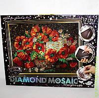 """Набор для творчества «DIAMOND MOSAIC» Алмазная живопись """"Маки"""", DankO toys"""