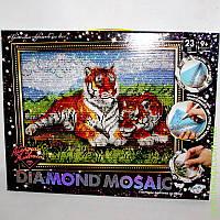 "Набор для творчества «DIAMOND MOSAIC» Алмазная живопись ""Тигры"", DankO toys"