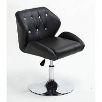 Кресло для салона красоты Чорний, 40-60см.(низьке/ манікюрне/ офісне/ тощо) на диску
