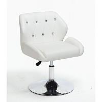 Кресло для салона красоты Білий, 40-60см.(низьке/ манікюрне/ офісне/ тощо) на диску