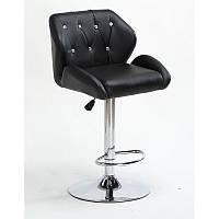 Кресло для салона красоты Чорний, 60-80см.(високе/ барне/ візажне/ тощо) на диску