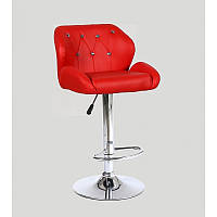 Кресло для салона красоты Червоний, 60-80см.(високе/ барне/ візажне/ тощо) на диску