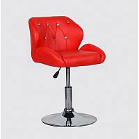 Кресло для салона красоты Червоний, 40-60см.(низьке/ манікюрне/ офісне/ тощо) на диску
