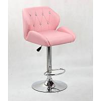 Кресло для салона красоты Рожевий, 60-80см.(високе/ барне/ візажне/ тощо) на диску