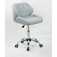 Кресло для салона красоты Сірий, 40-60см.(низьке/ манікюрне/ офісне/ тощо) на колесах