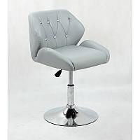 Кресло для салона красоты Сірий, 40-60см.(низьке/ манікюрне/ офісне/ тощо) на диску