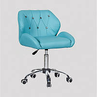 Кресло для салона красоты Бірюза, 40-60см.(низьке/ манікюрне/ офісне/ тощо) на колесах