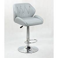 Кресло для салона красоты Сірий, 60-80см.(високе/ барне/ візажне/ тощо) на диску