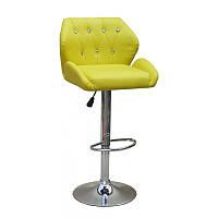 Кресло для салона красоты Жовтий, 60-80см.(високе/ барне/ візажне/ тощо) на диску