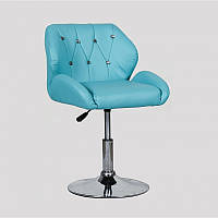 Кресло для салона красоты Бірюза, 40-60см.(низьке/ манікюрне/ офісне/ тощо) на диску
