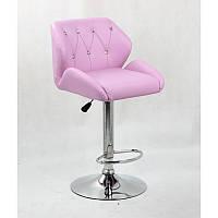 Кресло для салона красоты Лаванда, 60-80см.(високе/ барне/ візажне/ тощо) на диску