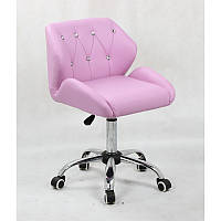 Кресло для салона красоты Лаванда, 40-60см.(низьке/ манікюрне/ офісне/ тощо) на колесах