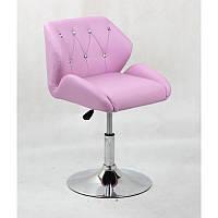 Кресло для салона красоты Лаванда, 40-60см.(низьке/ манікюрне/ офісне/ тощо) на диску