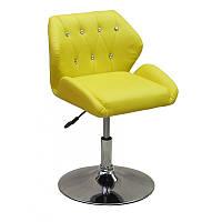 Кресло для салона красоты Жовтий, 40-60см.(низьке/ манікюрне/ офісне/ тощо) на диску