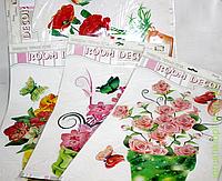Наклейка Цветы, декор