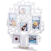 "Мультирамка в виде дерева ""Family"" на 6 фото"