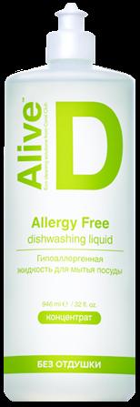 Alive D Гипоаллергенная жидкость для мытья посуды 946 мл