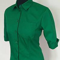 Рубашка женская зелёная