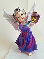 Статуэтка Ангел с фонарем №3 (цветной)