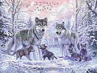 Схема для бисера А1 Волки в лесу