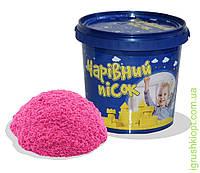Песок розового цвета в ведре 2 кг , ST