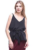 Майка женская ZARA цвет черный размер L арт 4043/283/800