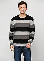 Свитер мужской DIESEL цвет черно-серо-белый размер L арт 00SC2J
