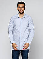 Рубашка мужская ZARA цвет бледно-голубой размер S арт 3717/303/400, фото 1